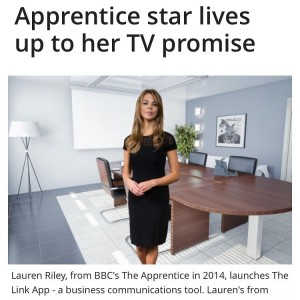 Latest press. I love this more than most as it mentions my dog and my mum ❤️ (link on Twitter @misslaurenriley ) #press #business #thelinkapp #family #theapprentice